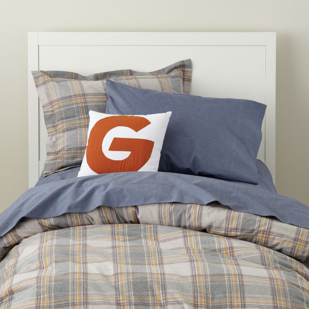 Grey Comforter Sets on Boys Bedding  Grey Plaid Boys Bedding Set