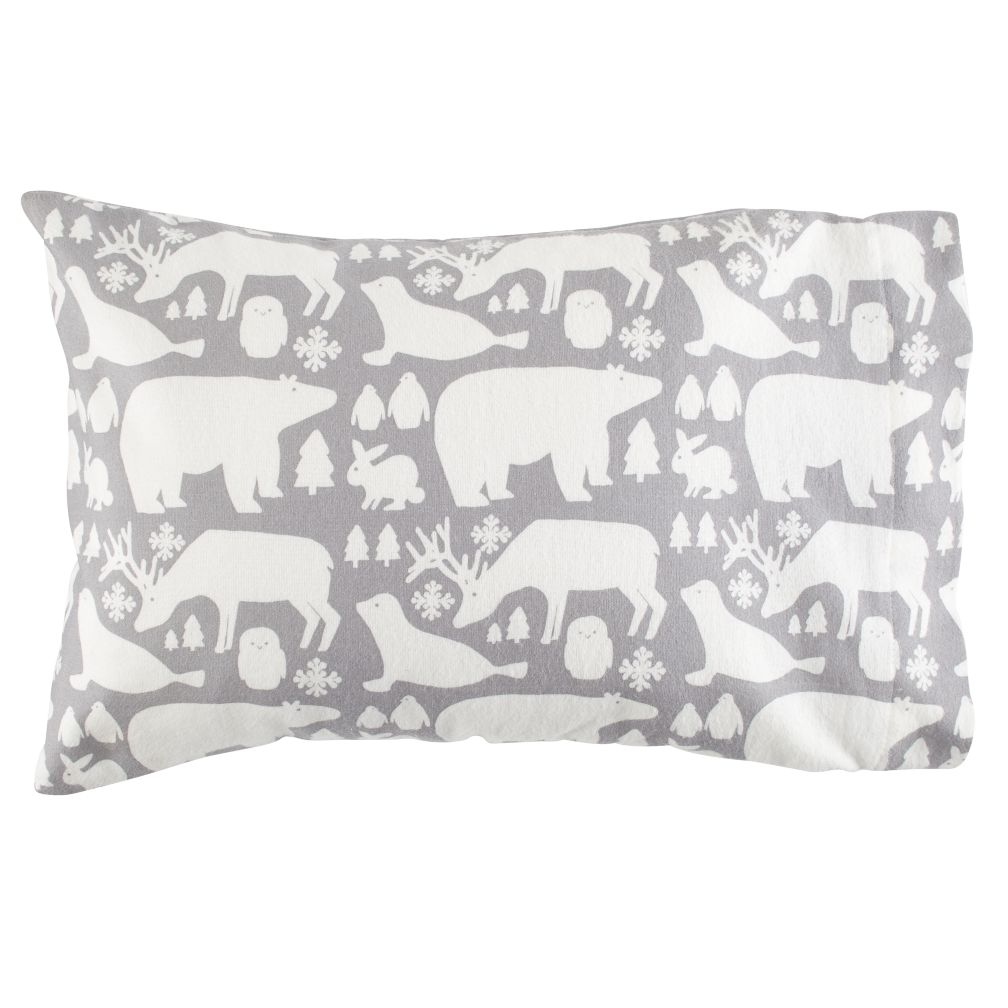 Great White North Flannel Pillowcase