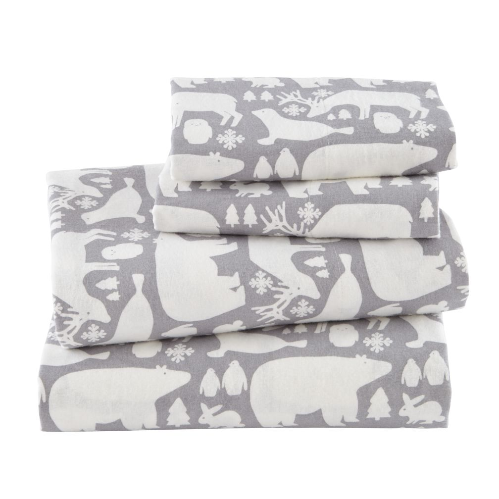 Great White North Flannel Queen Sheet Set