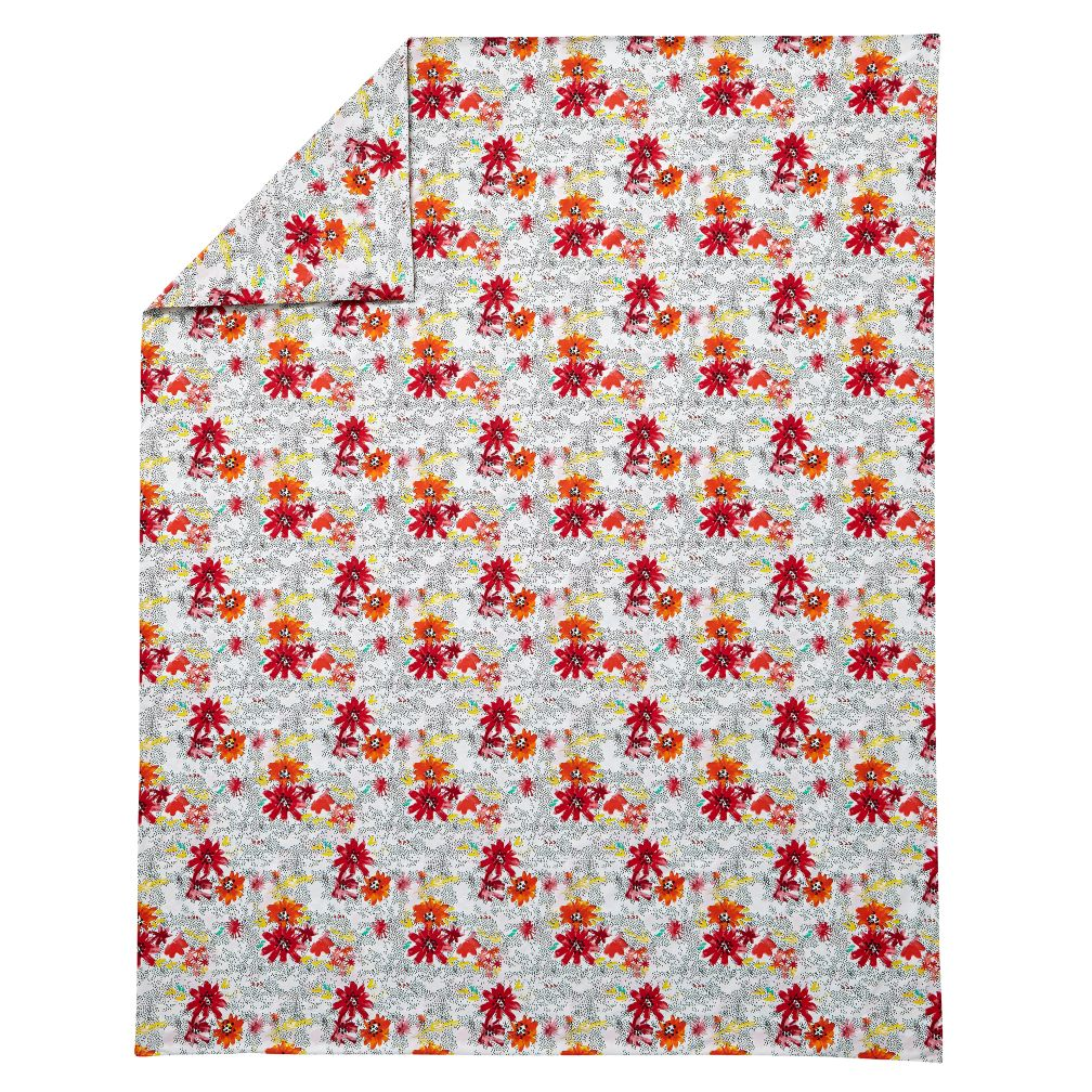 Full-Queen Floral Pop Duvet Cover