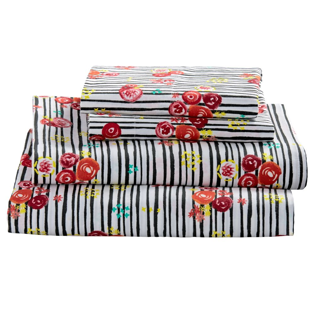 Full Floral Pop Sheet Set