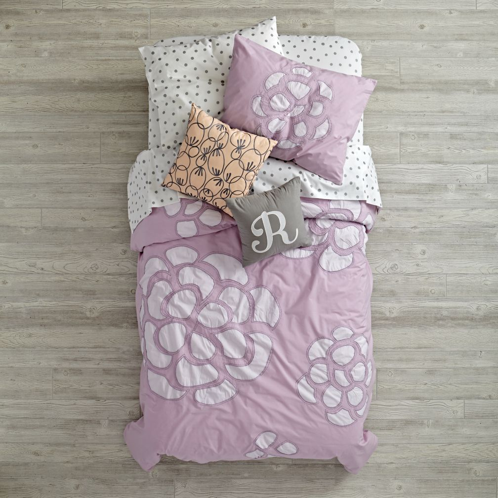 Flower Bud Bedding and Quilt