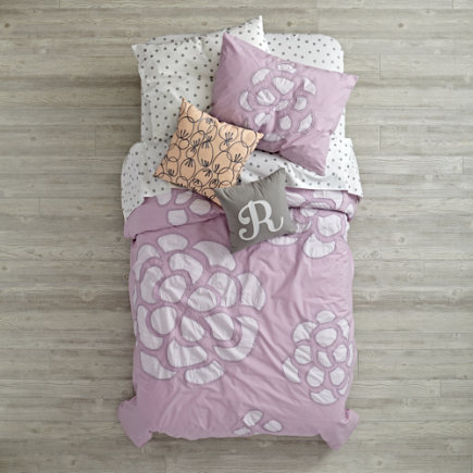 Twin Flower Bud Duvet Cover