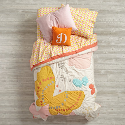 Fly Away Butterfly Print Kids Bedding - Twin Fly Away Quilt