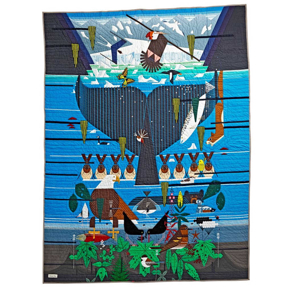 Ltd. Ed. Charley Harper Glacier Bay Quilt (Full-Queen)