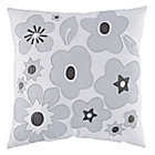 Grey Go Lightly Throw Pillow