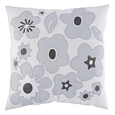 Go Lightly Throw Pillow (Grey)