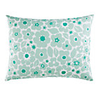 Mint Go Lightly Floral Sham.