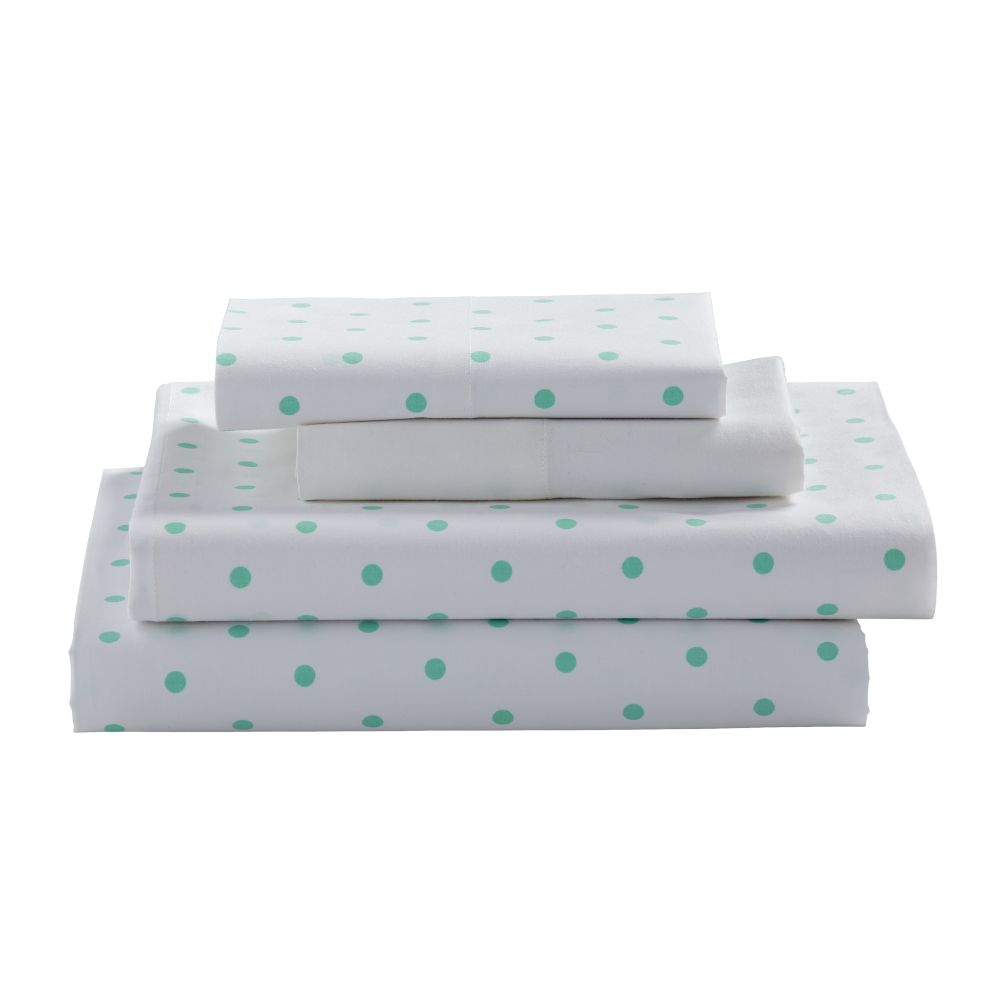 Queen Go Lightly Sheet Set (Mint Dot)