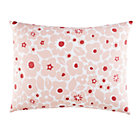 Pink Go Lightly Floral Sham.