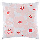 Pink Go Lightly Throw Pillow.