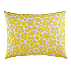 Yellow Go Lightly Floral Sham.