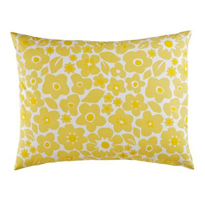 Go Lightly Floral Sham (Yellow)