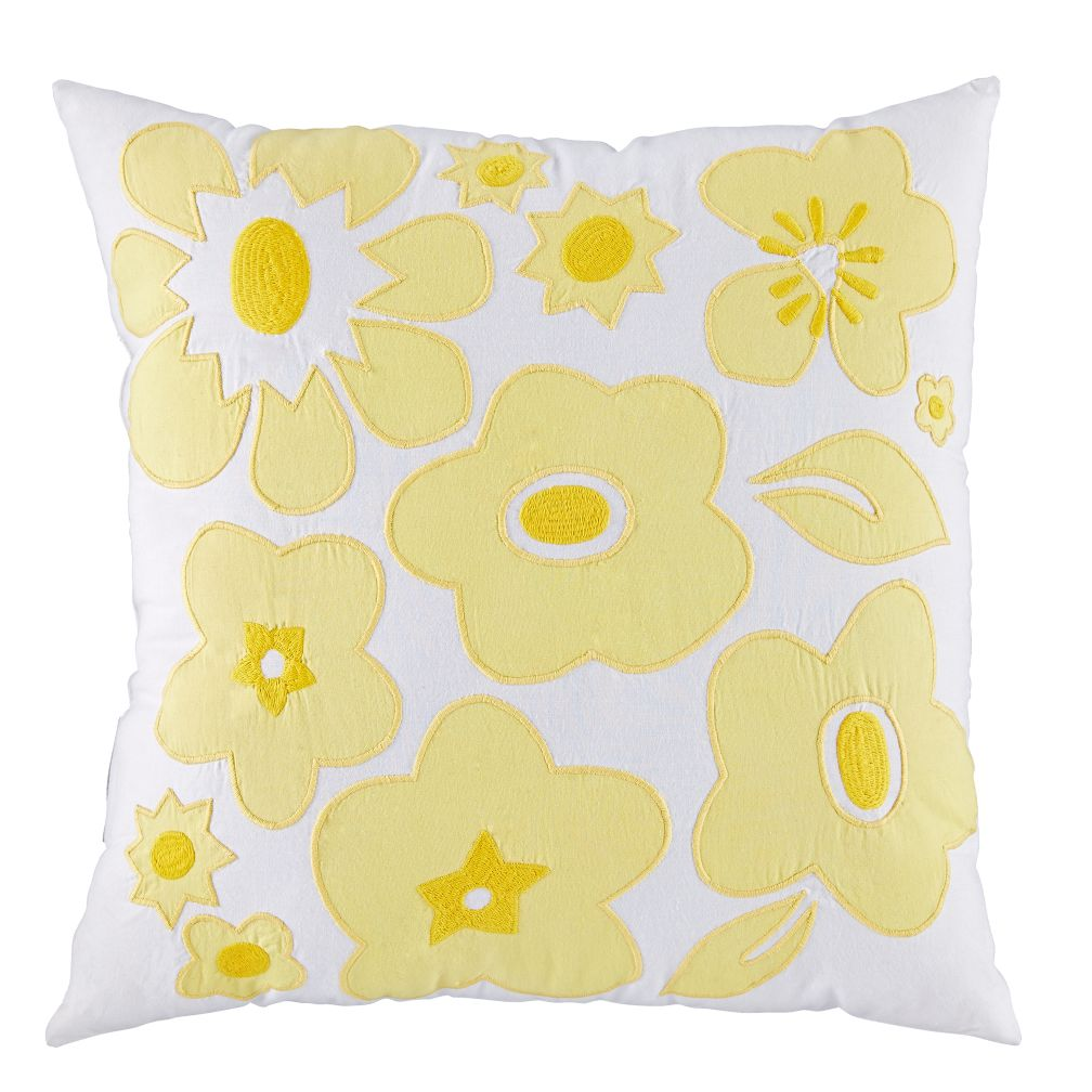 Go Lightly Throw Pillow (Yellow)