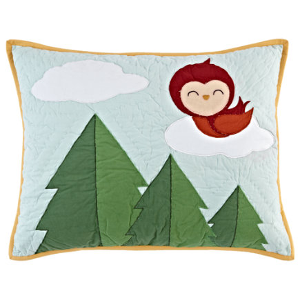 Kids Pillow Shams: Woodland Creatures Sham - Honey Bunny Quilted Sham