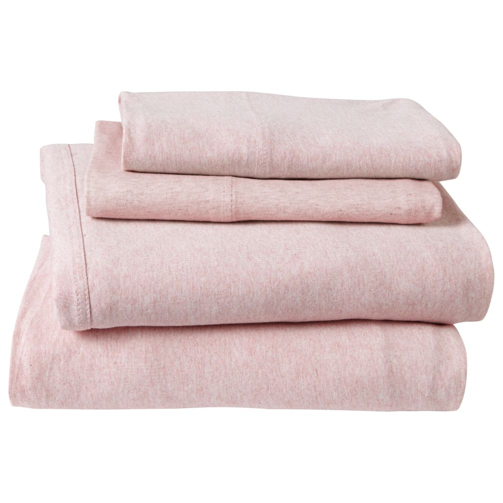 Queen Pure Jersey Sheet Set (Pink)