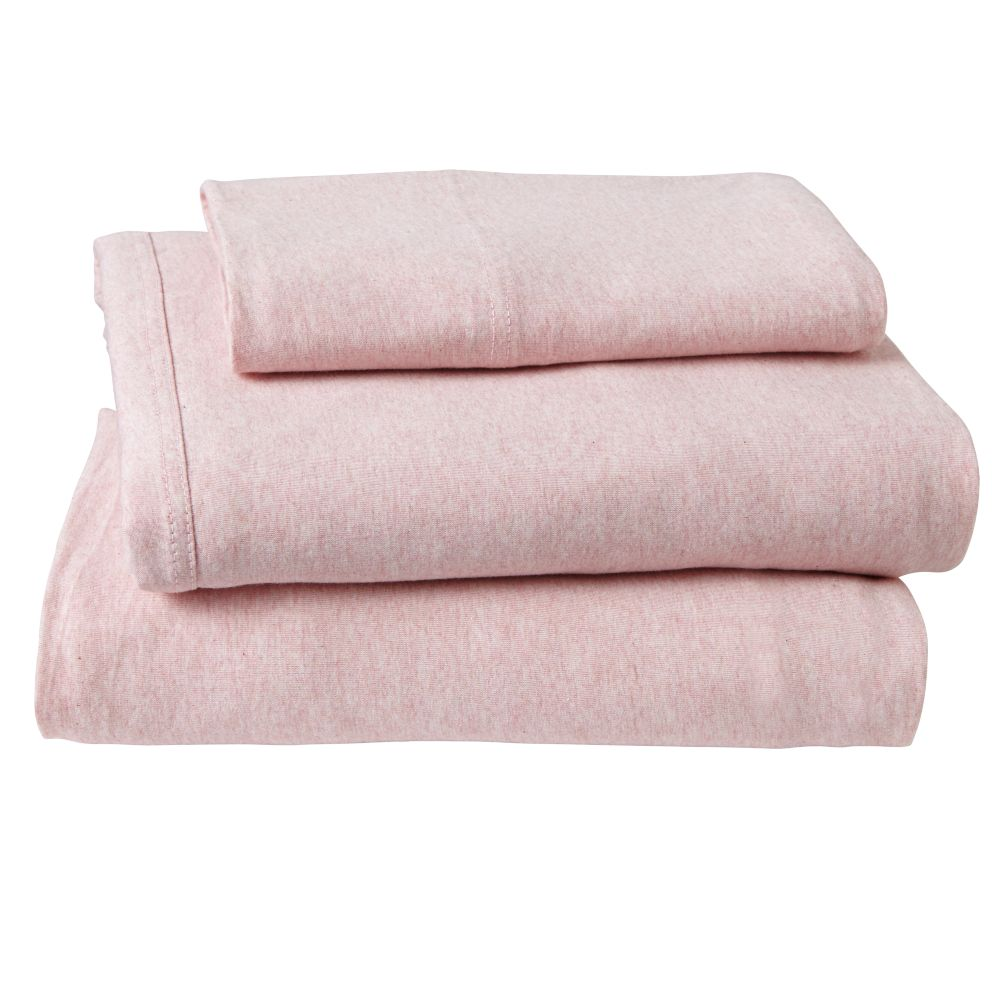 Twin Pure Jersey Sheet Set (Pink)