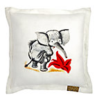Saggy Baggy Elephant Square Throw Pillow