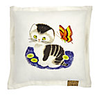 Shy Little Kitten Square Throw Pillow