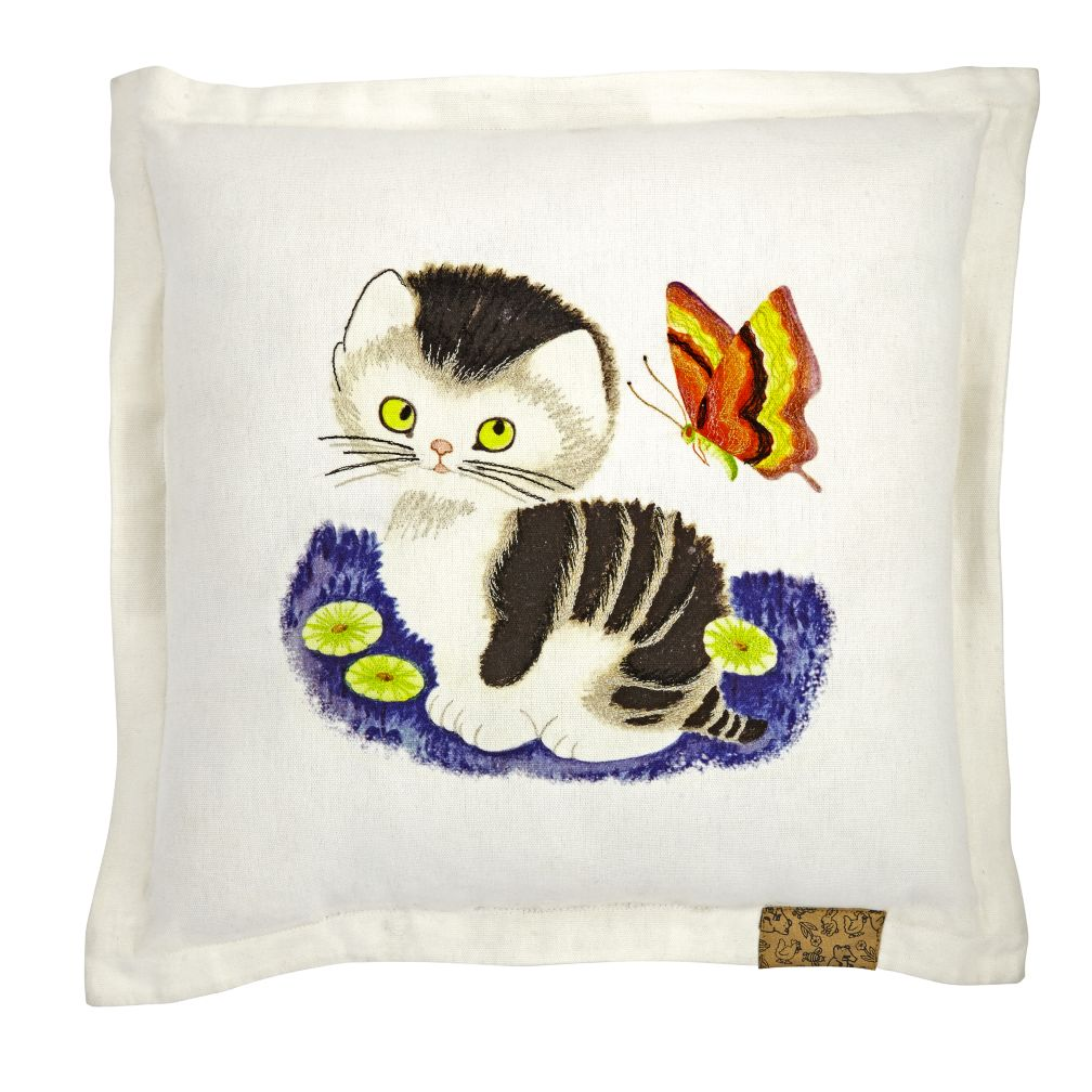 Shy Little Kitten Throw Pillow