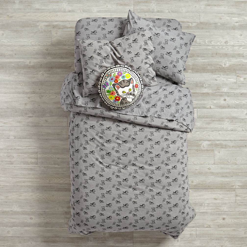 Shy Little Kitten Duvet Cover