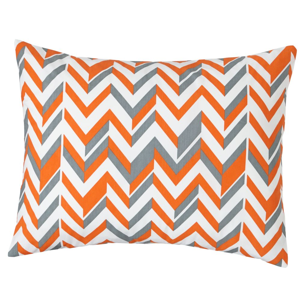 Little Prints Sham (Orange Zig Zag)