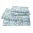Full Laguna Geometric Sheet SetIncludes fitted sheet, flat sheet and two pillowcases