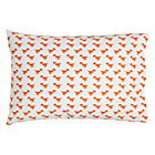 Orange Dinosaur Little Prints Pillowcase