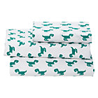 Twin Little Prints Green Dinosaur Sheet SetIncludes fitted sheet, flat sheet and one pillowcase