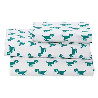 Twin Little Prints Sheet Set (Green Dinosaur)