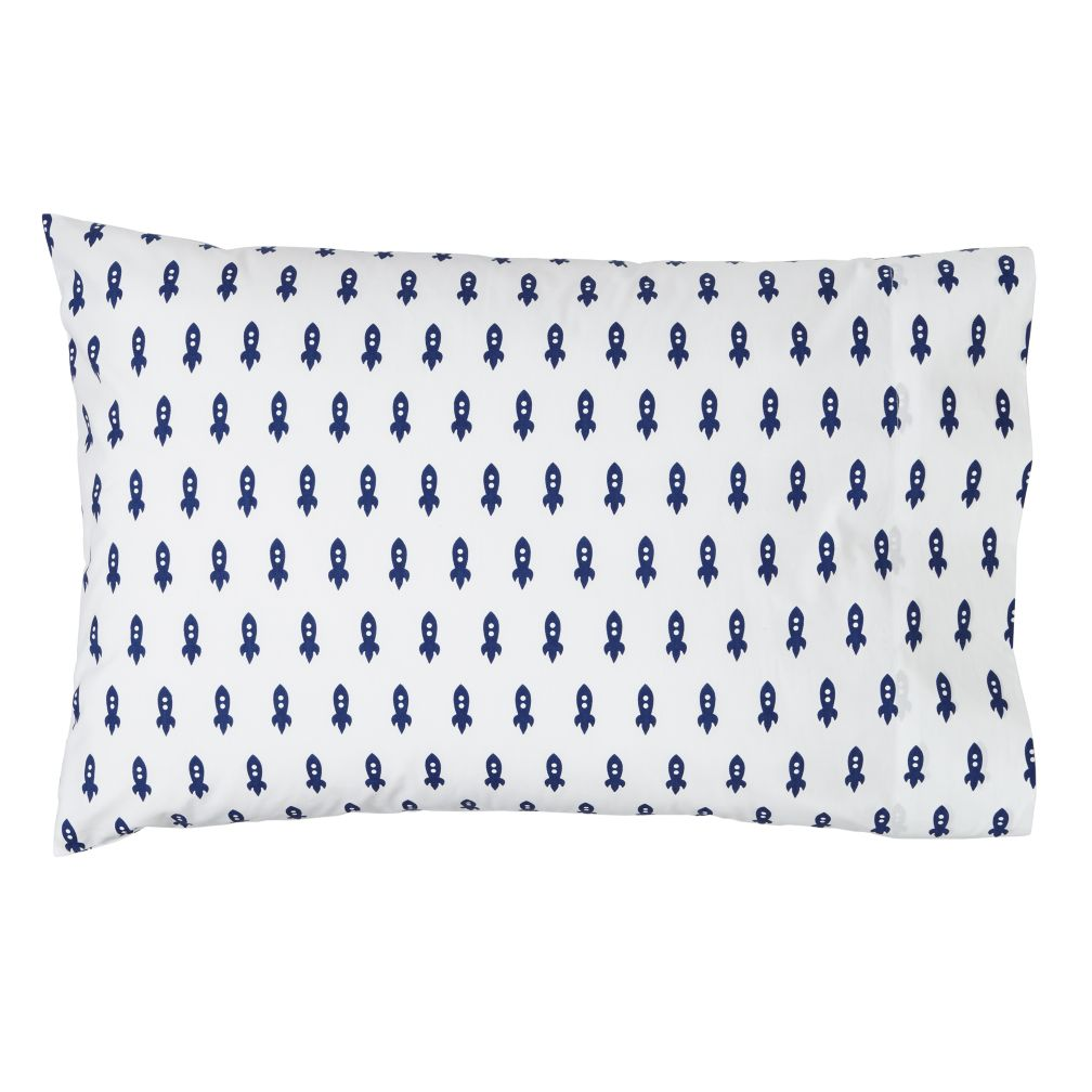 Little Prints Pillowcase (Blue Rocket)