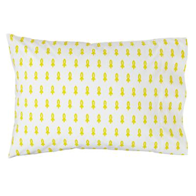 Little Prints Pillowcase (Yellow Rocket)