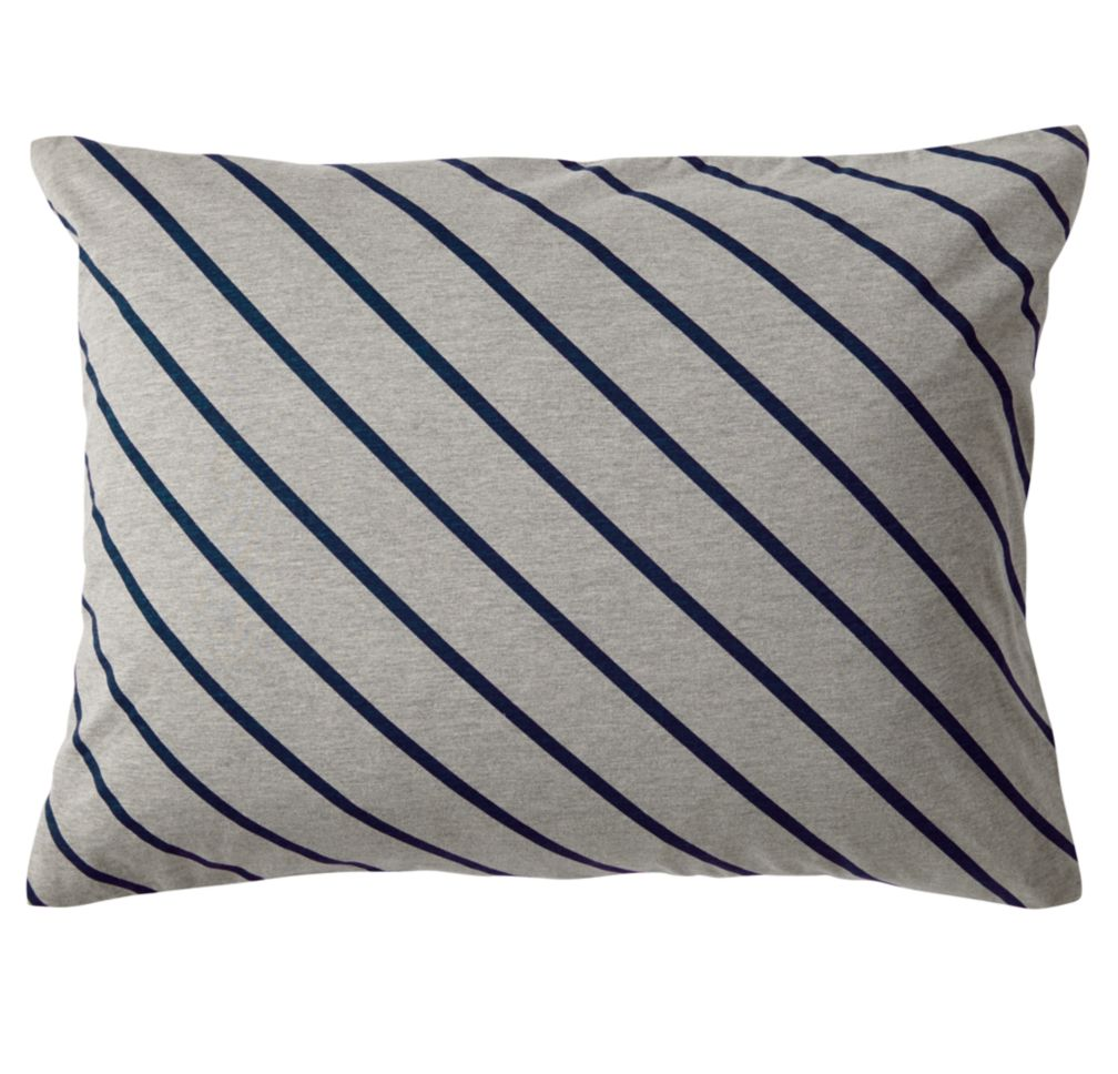 Little Prints Sham (Blue Stripe)