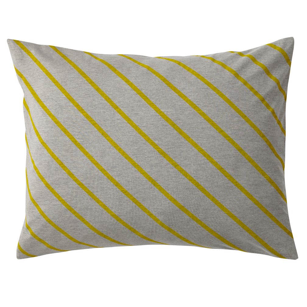 Little Prints Sham (Yellow Stripe)