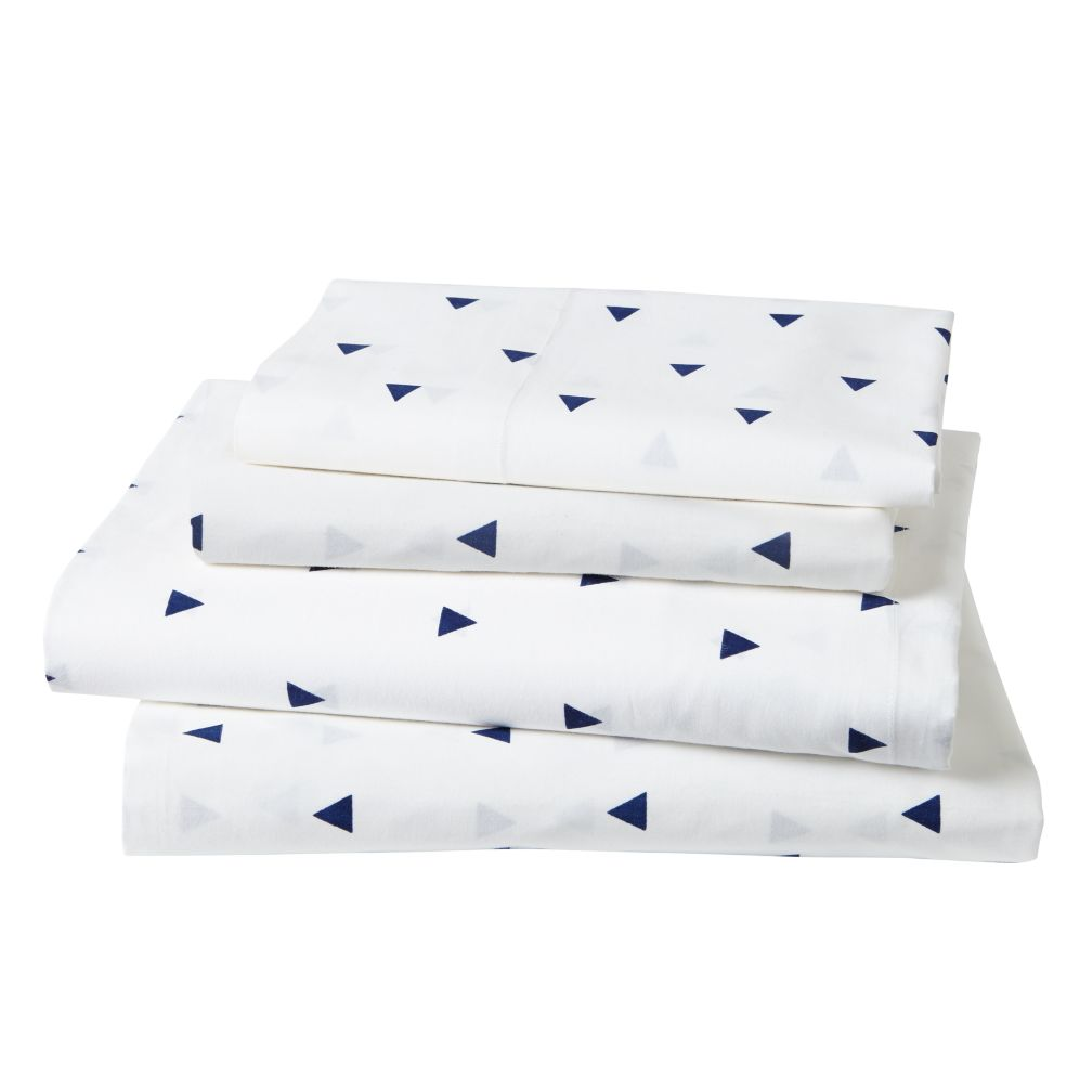 Full Little Prints Sheet Set (Blue Triangle)