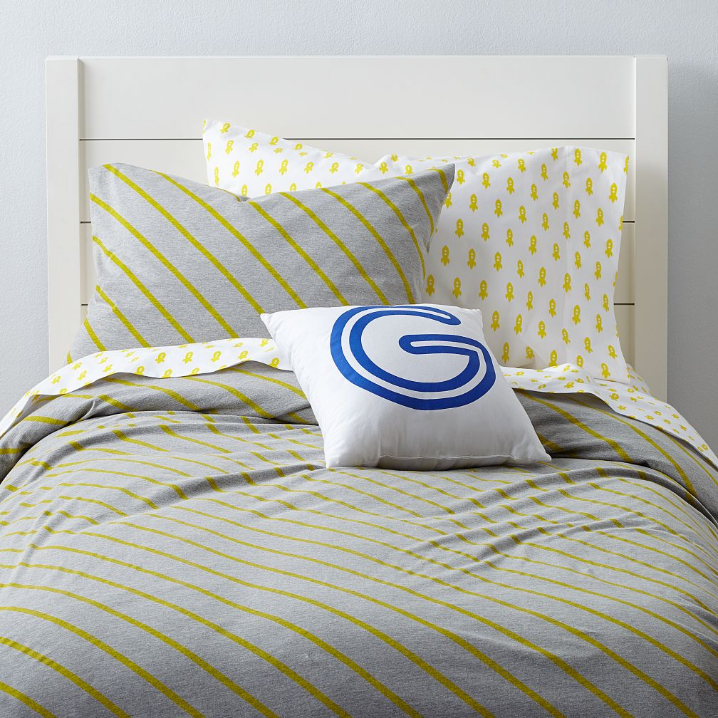 Little Prints Duvet Cover (Yellow Stripe)