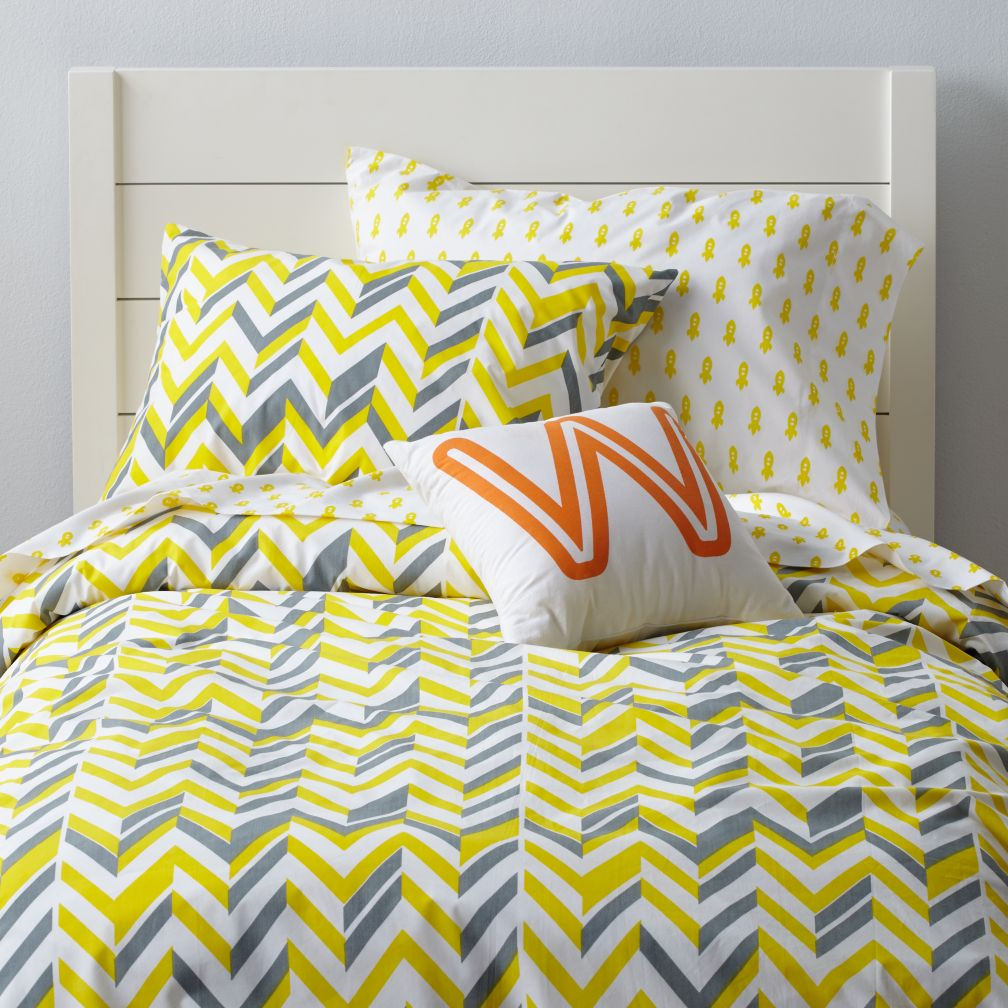 Little Prints Duvet Cover (Yellow Zig Zag)