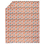Twin Orange Zig Zag Little Prints Duvet Cover