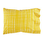 Yellow Hatch Mod Botanical Pillowcase.
