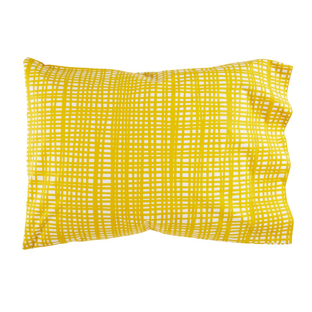 Mod Botanical Pillowcase (Yellow Hatch)