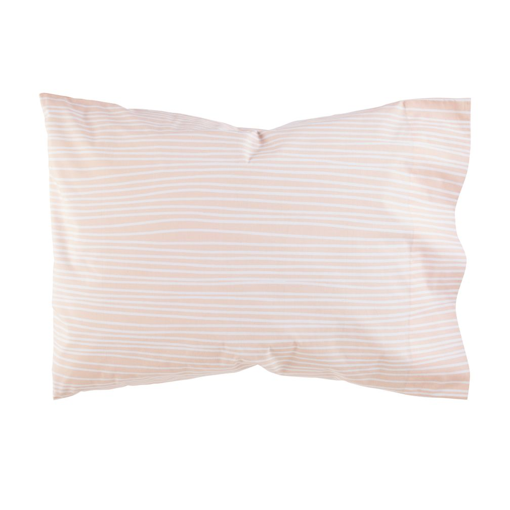 Mod Botanical Pillowcase (Pink Stripe)