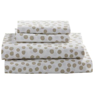 Queen Mod Botanical Sheet Set (Grey Dot)