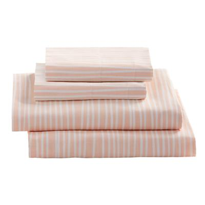 Queen Mod Botanical Sheet Set (Pink Stripe)
