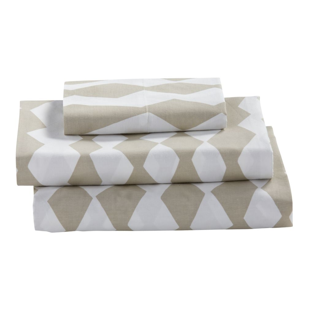Twin Mod Botanical Sheet Set (Grey Diamond)