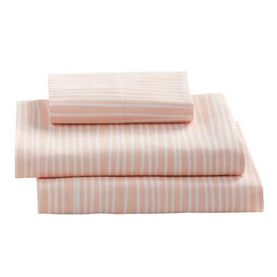 Twin Mod Botanical Sheet Set (Pink Stripe)