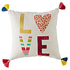 Modern Mosaic Love Throw Pillow