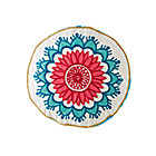 Modern Mosaic Round Floral Pillow Cover.