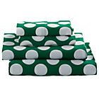 Queen Green with White Dot Later Gator Sheet Set.