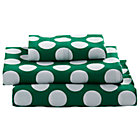 Twin Green with White Dot Later Gator Sheet Set.