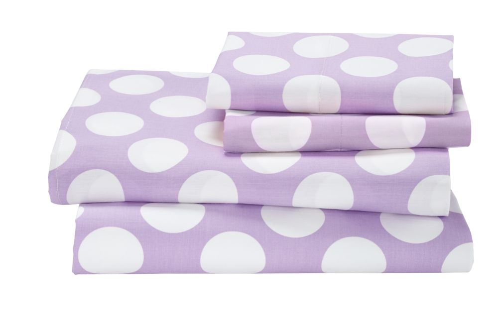 Full New School Sheet Set (Purple w/White Dot)